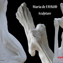 Photographies d'oeuvres d'art sculptées par Maria De Faykod, et photographiées par Jean-Yves Liens