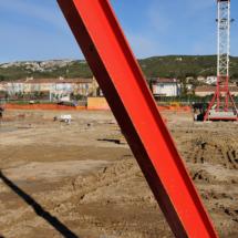 Photos suivi de chantier groupe scolaire La Fare les Oliviers pour Gagneraud Construction