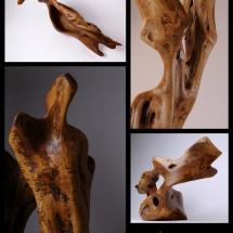 Photographies d'oeuvres d'art sculptées par Henry Roux, et photographiées par Jean-Yves Liens