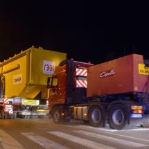 huitième convois exceptionnel ITER pour le site de Cadarache en transit par Lambesc