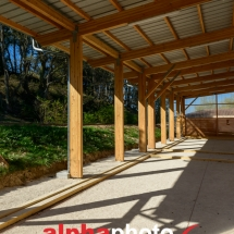 Construction du nouveau boulodrome, Eguilles dans les Bouches du Rhône