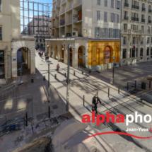 Chantier Centre Bourse, Marseille, pour le groupe Spie Batignolles